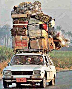 Overloaded-car
