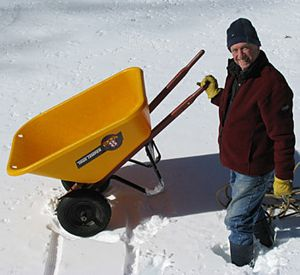 Wheelbarrow -Sled conversion 1