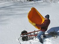 Wheelbarrow -Sled conversion 3