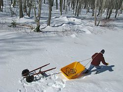 Wheelbarrow -Sled conversion 5