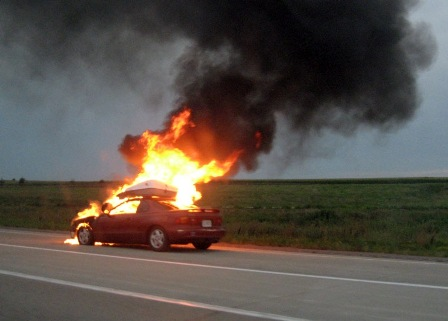 Chevyvolt burning
