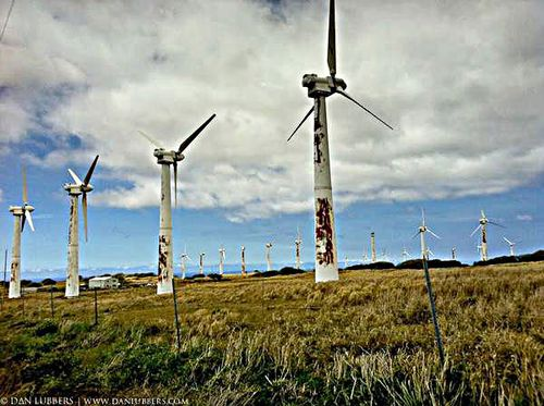 Abandoned wind turbines